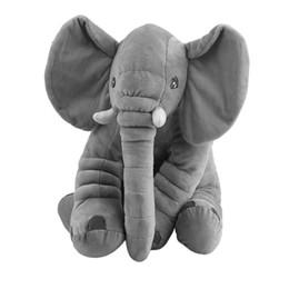 Canada 33 * 40 cm Éléphant Doux Bébé Oreiller Bébé Sommeil De Voiture Coussin De Siège Enfants Portable Chambre Literie Farcies En Peluche Jouets Oreillers cheap elephant stuff toy Offre