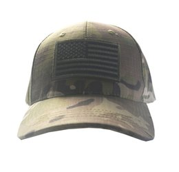 121d5a5c939 Army Camouflage Tactical Cap Bundle with USA Flag Patch Mens Baseball Cap  Outdoor Hunting Fishing Hat