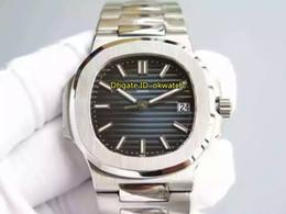 Melhor safira azul on-line-Nova Marca De Luxo Melhor Qualidade AAAAA 40 MM Nautilus Cal.324 S C Automático Mens Watch 5711 / 1A-010 Sapphire Azul Dial Aço Inoxidável Strap