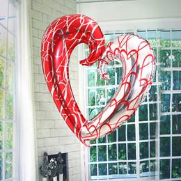 2019 forma de corazón globos de aluminio Nuevo estilo 43 pulgadas gancho grande en forma de corazón globos de aluminio al por mayor globo de helio boda decoración del partido globos de matrimonio forma de corazón globos de aluminio baratos