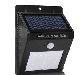 Canada 20 LED Étanche IP65 Solaire Alimenté Sans Fil PIR Motion Sensor Lumière Extérieure Jardin Paysage Cour Pelouse Sécurité Applique LLFA Offre
