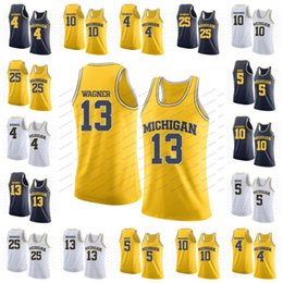 929cff38e ncaa michigan wolverines 13 moritz wagner 4 chris webber 5 jalen rose 25  juwan howard 10
