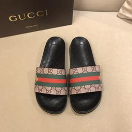 6af9f7c73810da new men sandal design Promo Codes - New 2018 Rubber Slide Sandal Slippers  Red Green Stripe