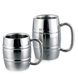 Wholesale quality coffee cups - 450ml High Quality Stainless Steel Mug Coffee Beer Cup Double Wall Water Mug Traveling Outdoor Camping Sports Mugs For Home Bar