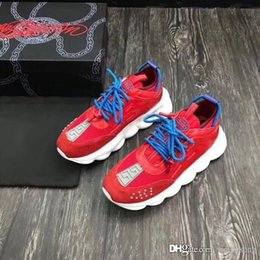 Discount cheap men silver chain - 2018 New Chain Reaction Sneaker Braille Lovers Lettering Calf Leather Sneakers Cheap Luxury Designer Women Men Lovers Trainer Casual Shoes