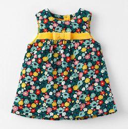 Colete vestidos flor tamanho misturado queda sping crianças roupas vestidos para meninas completa tecido de algodão de manga criança roupas crianças vestido por atacado de Fornecedores de vestidos dos miúdos por atacado