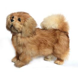 2020 perro de peluche caniche de juguete Dorimytrader simpático animal de peluche pekinés pekinés suave suave juguete caniche relistic perro mascota decoración regalo 20x26cm DY80009 perro de peluche caniche de juguete baratos