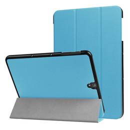 Кожа таблетки галактики онлайн-Для Sasmung Galaxy Tab S3 9.7 T820 T825 9.7 дюймов Tablet флип кожаный чехол тонкий стенд чехол кожи защитная оболочка