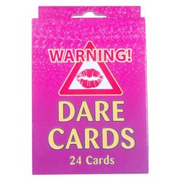 Wholesale Favor Games - 24pcs set Hen Party Supply Bachelorette Party Dare Cards Girls Out Night Party Prop Game wen5515