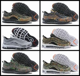 Wholesale camo brown - 2018 New 97 Country Camo Japan Italy UK Army Green Running Shoes Men 97s Camouflage Ultra Bullet 3M Premium Zoom Trainers Sneakers 40-46