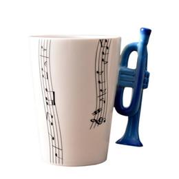 red coffee mug ceramic UK - 300ML Ceramic Tea Coffee Mugs With Instrument Handle Cup Creative Home Office Mug Table Water Bottle Kitchen Tools haif