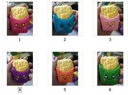Wholesale Wholesale Fries - Hot! 10pcs Slow Rising Squishies High Quality Kawaii Cute Jumbo French Fries Scented Bread Cake Squishy toy doll decompression Free DHL