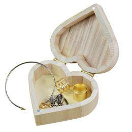 Caixa de jóias de madeira amor coração forma diy caixa de armazenamento de artesanato art decor crianças kid baby artesanato de madeira brinquedos de Fornecedores de caixa de jóias de madeira diy