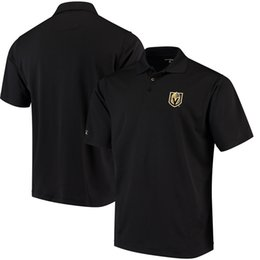 Wholesale Open Casual Shirts - Vegas Golden Knights t-shirt cheap Antigua Pique Xtra moleton masculino Casual black Men shirt clothing Pullover Stars British Skulls M-XXL