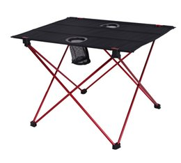 Wholesale Picnic Portable Table - Outdoor folding table and chair aluminum alloy portable table light double double Oxford camping barbecue picnic table.