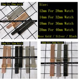 Wholesale 12mm Watch Band - 12mm 14mm 18mm 20mm Metal Strap Stainless Steel Watch Bands Belt Rose Gold Silver Black