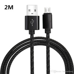 Wholesale Phone Plug Wiring - 2018 Nylon Braided Wire Metal Plug Data Sync Charging Data Phone USB Cable Can be Wholesale and Retail