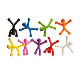 2019 гибкие игрушки Гибкий Магнит Человек Игрушки забавные забавные гаджеты новизна игрушки для мужчин и детей Рисунок Стикер Офиса фигурку Удивительный GGA257 500 шт. дешево гибкие игрушки