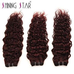 Wholesale virgin hair brazilian vendor - 99j water bundle Biggest vendors hair salon equipment china mongolian products you can import from 100% natural unprocessed virgin hair