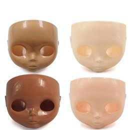 Wholesale Plastic Face Doll - blyth doll face plate factory blyth No makeup face white tan normal dark transparent skin