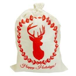 2018 INS 50 * 70cm sacs de cadeau de Noël pour enfants toile sac de père Noël sacs renne bonhomme de neige ? partir de fabricateur