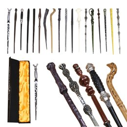 Wholesale Harry Potter Dumbledore Wand - Harry Potter Magic Wand Dumbledore Hogwarts wand cosplay wands Hermione Voldemort Magic Wand In Gift Box 36cm 18 design