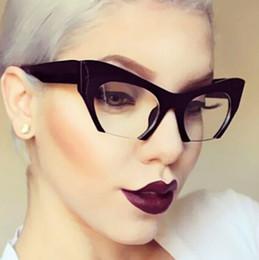 2019 lunettes lindberg Demi-cadre Chat Lunettes Lunettes Dames Petits Cadres Femmes Marque Designer Optique Mode Lunettes Lunettes D'ordinateur