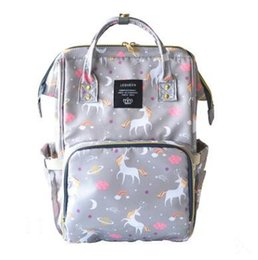Wholesale Boy Diaper Bags - 18Colors Unicorn Mommy Backpacks Nappies Bags Mother Maternity Diaper Backpack Large Capacity Outdoor Travel Bags Organizer
