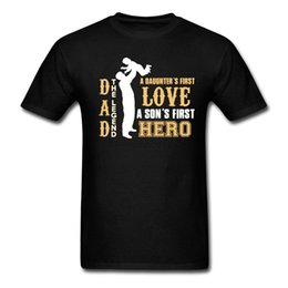 Wholesale Hero Plus Black - LEGEND DAD T-Shirts Men Clothing My Love Hero Dad Funny Printing T Shirt Homme Father Day Gift Plus Size Tops