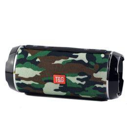 Manos de cuerno online-TG116 Double Horn Cloth Net Bluetooth Altavoz inalámbrico Mini Altavoz portátil Soporte TF Tarjeta manos libres Micrófono estéreo para teléfono móvil Ordenador