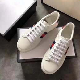 Wholesale Female Shoe Designers - white trainers sneakers platform women designer sneakers with top quality casual luxury brand female shoes with bee for sale size 35-40