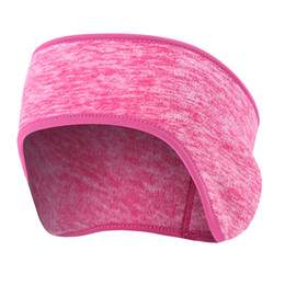 Wholesale Pink Ear Warmer Headband - Thickening Warm Headband Sports Sweatbands Outdoor Sports Running Walking Jogging Hiking Skiing Fleece Ear Protection Hair Bands