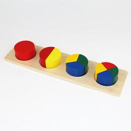 Apprentissage de l'école maternelle en Ligne-Bébé Jouet Bois Géométrie Bloc Puzzle Conseil Forme Puzzle Jouet Pour L'apprentissage Préscolaire Pour Enfants Jouets Brinquedos Juguetes