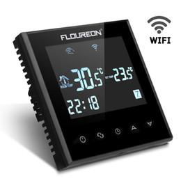 commercio all'ingrosso termometro del serbatoio della pesca Sconti Floureon HY03WE4 Smart WiFi LCD Touch Screen Thermostat Weekly Programmable Underfloor Temperature Controller Heating Thermostat