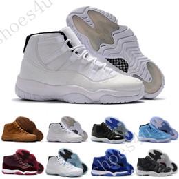 Scarpe da pallacanestro sconti online-Sconti (11) XI Space jam Legend blue black Velvet 72-10 Scarpe da basket Scarpe sportive da uomo Scarpe da corsa 11s donne