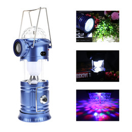 Wholesale Flash Families - Multifunctional LED Camping Lantern Flashing Stage Light With Bluetooth Speaker LED Portable Lanterns For Camping Hiking Family Party