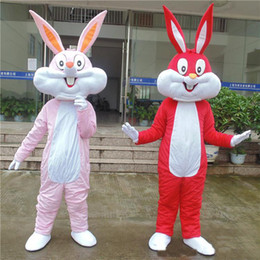 Wholesale Red Rabbit Costume - 2018 High quality adult customized rabbit bunny mascot costumes fancy dress gift for kid's birthday good quality