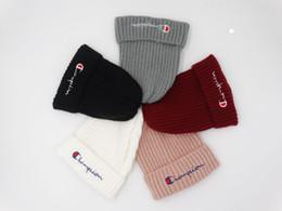 7a9b01edece 2018 beanies Knitted Hat Designer Champion Winter Warm Thick Beanie Fedora  gorro Bonnet Skull Hats for Men women Crochet Skiing Cap hat