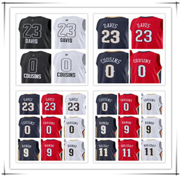Wholesale Demarcus Cousins Jersey - 2018 New All Star Men's #23 Anthony Davis Jersey #0 DeMarcus Cousins #9 Rondo 11 Holiday Men's Shirts Stitched Basketball Jerseys