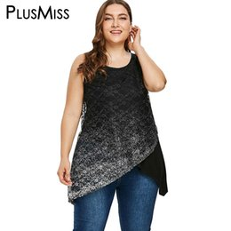 Wholesale ladies sequin tank tops - PlusMiss Plus Size 5XL 4XL Summer 2018 Mesh Sequin Tank Tops Women Clothes Big Size Sexy Sleeveless Beach Party Vest Top Ladies