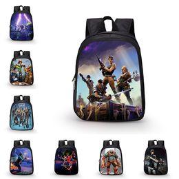 Wholesale wholesale backpacks for kids - Fortnite Backpacks 45 Designs 27*14*35cm Fortnite Schoolbag for Boys Girls Kids Cartoon Printing Backpacks Schoolbag LA798