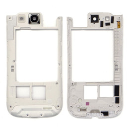 Wholesale Galaxy S3 Back Replacement - 50pcs Original Middle Back Frame Chassis Plate Bezel Back Housing Replacement For Samsung Galaxy S3 I9300 Black white free DHL
