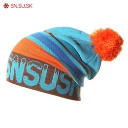 Wholesale red snowboard beanies - 2018 new Snowboard Winter Ski SKULLIES CAPS Hats Beanies ( wool knitted ) head warm for men woman gorros de lana