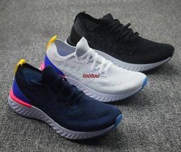 Wholesale Comfortable Running Shoes For Men - New Epic React Womens Mens Running Shoes Instant Go Fly Breath Comfortable Sport Boost Size 5.5-11 For Sale Men Women Athletic Sneakers