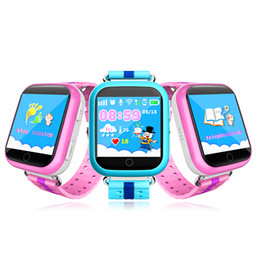 Wholesale Used Home Safe - Q750 Kids Smart Watch GPS Wifi LBS Monitor Locator Watch Phone 1.54 Inch Touch Screen SOS Safe Anti-Lost Location Device Tracker
