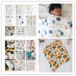 Wholesale Boy Maternity - 120*120cm Bamboo Fiber Towels Newborn Robes Anti-Bacterial Cartoon Toddler Blankets Cute Baby Swaddling Quilts Breast Feeding Maternity