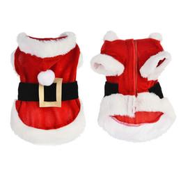 Ropa de perro pequeño xxs online-Navidad ropa para perros mascotas cálido más pequeño perro de peluche gato caniche ropa XXS envío gratis