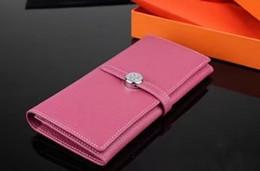 Designer-handy-kupplung online-Neue Marke Luxus Brieftasche frauen Handtasche Reisepass Aus Echtem Leder Handy Geldbörse Mode frauen handtaschen H designer Brieftaschen