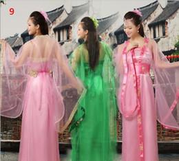 alte chinesische kostüme frauen Rabatt Erwachsene childs 10 Farben-traditioneller chinesischer schöner Tanz Hanfu Kleid-Mädchenfrauendynastie-Kostüm-alte chinesische Kostüme