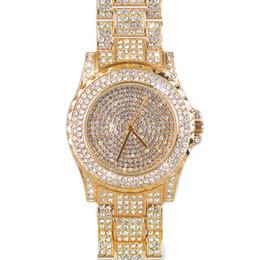 Wholesale Vintage Jewelry Watches - 2017 Brand New vintage Ladies Luxury rose Gold Quartz dress Wristwatches Women Rhinestone Watches steel bling bling diamond